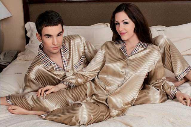 ночная пижама из шелка