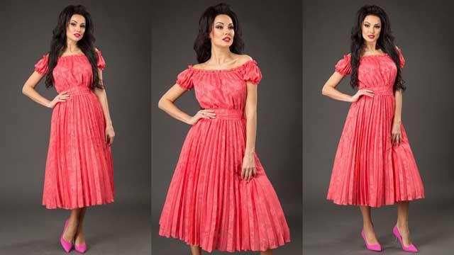 платье из ткани шифон-жаккард