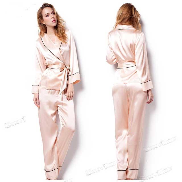 женская шелковая пижама