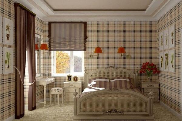 спальня в шотландском стиле