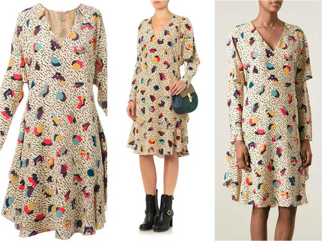 платье из искусственого шелка