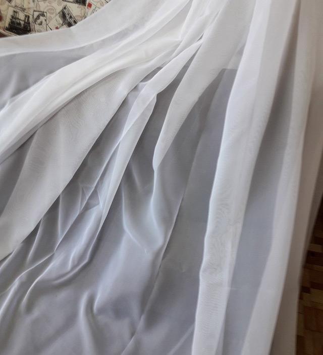 вуаль ткань белая