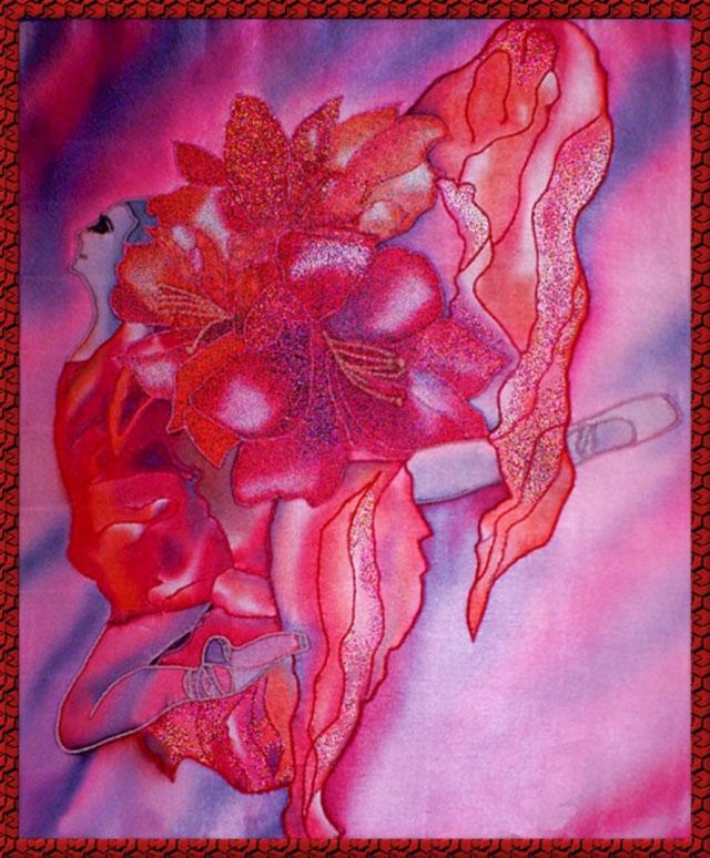 batik-na-satine Роспись акриловыми красками по стеклу: мастер-класс для начинающих с фото
