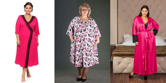 фасоны домашних халатов для полных женщин