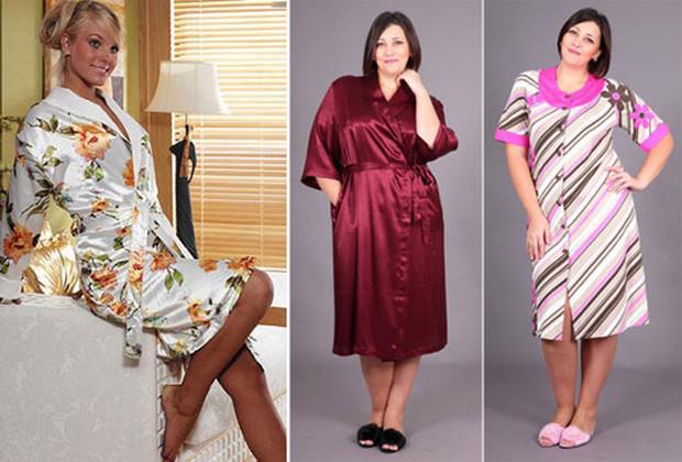 Женские халаты большого размера фото
