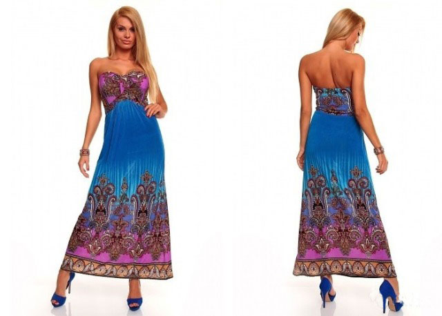 летнее платье из ткани холодок