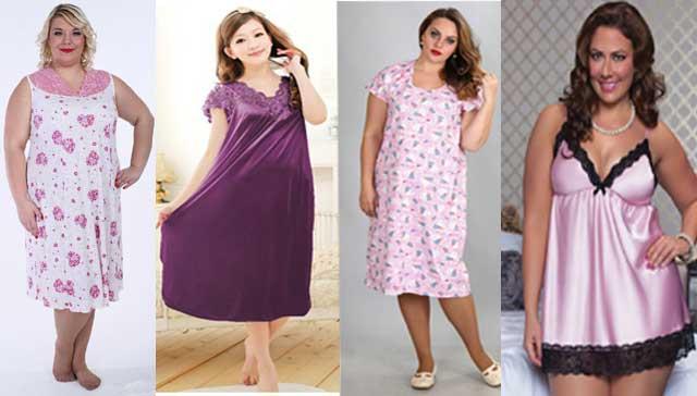 женские ночные сорочки больших размеров