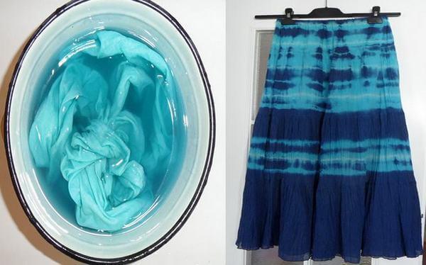окрашивание ткани с помощью стиральной машины