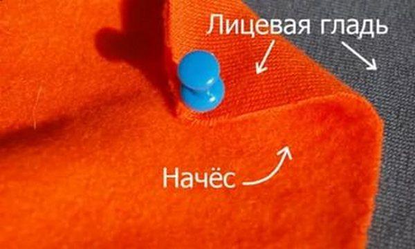 сравнение лицевой и изнаночной сторон ткани
