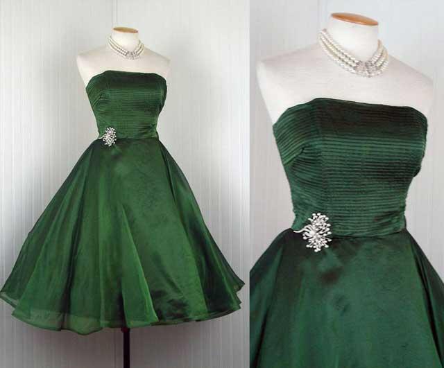 платье из оливковой органди