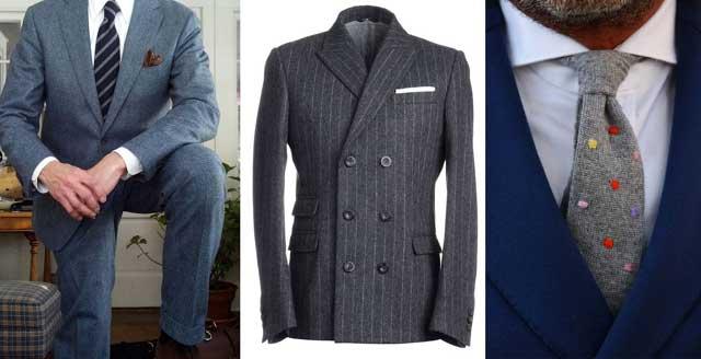 мужские костюмы из шерстяного волокна