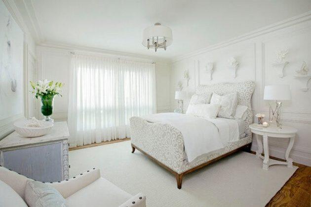 в белую спальню