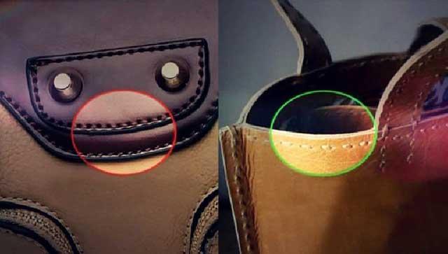 как отличить кожаную сумку от кожзама