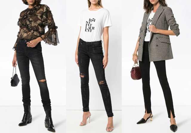 как выбрать джинсы черные с дырками