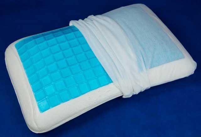 подушка гелевая со съемным чехлом