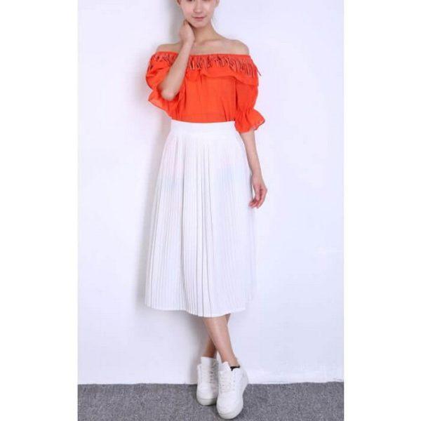 Белая классическая юбка