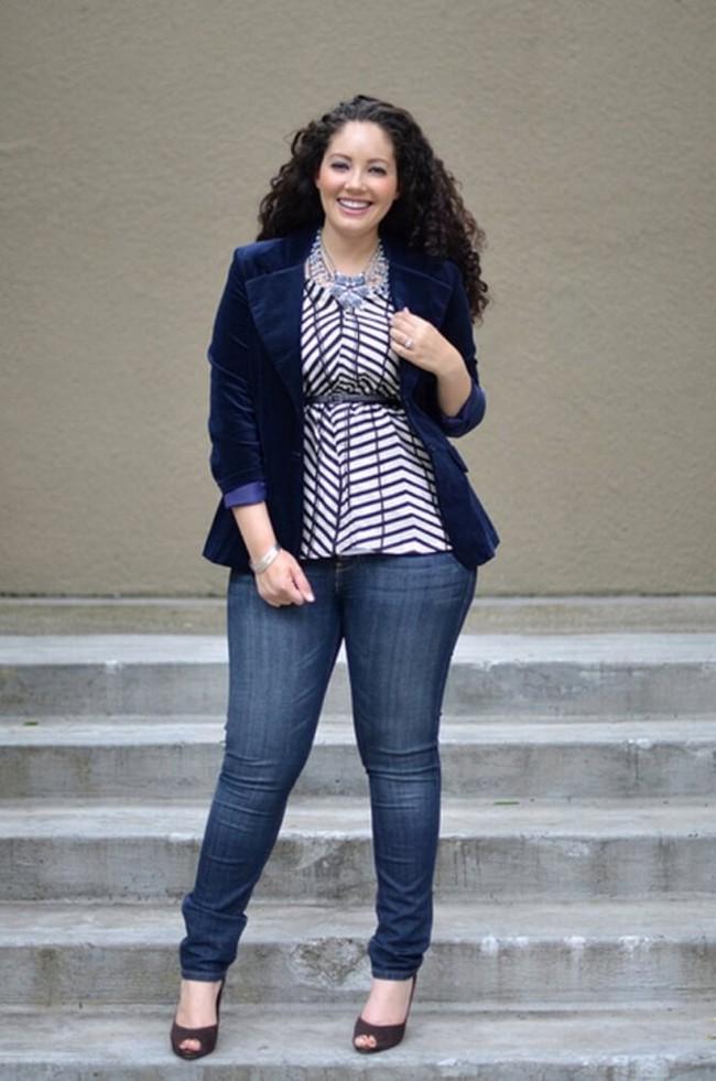 фото джинсы слим для полных