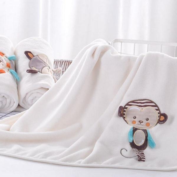 мягкое фланелевое одеяльце для новорожденных